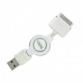 Cavo retrattile Usb   Apple Dock 30 Pin - 80 cm